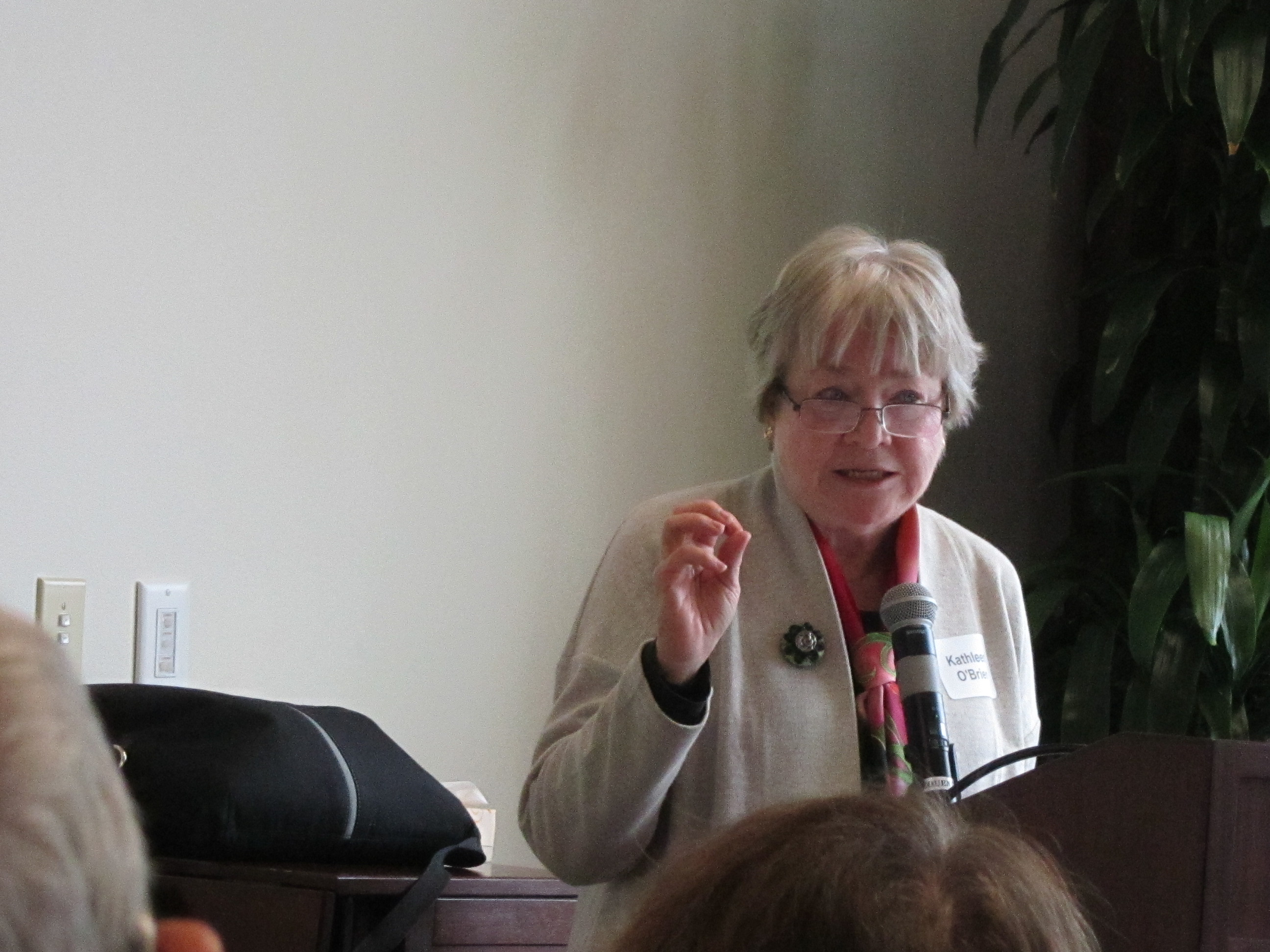 Kathleen O`Brien, Oct 2016, shared from her extensive research about Minnesota women leaders