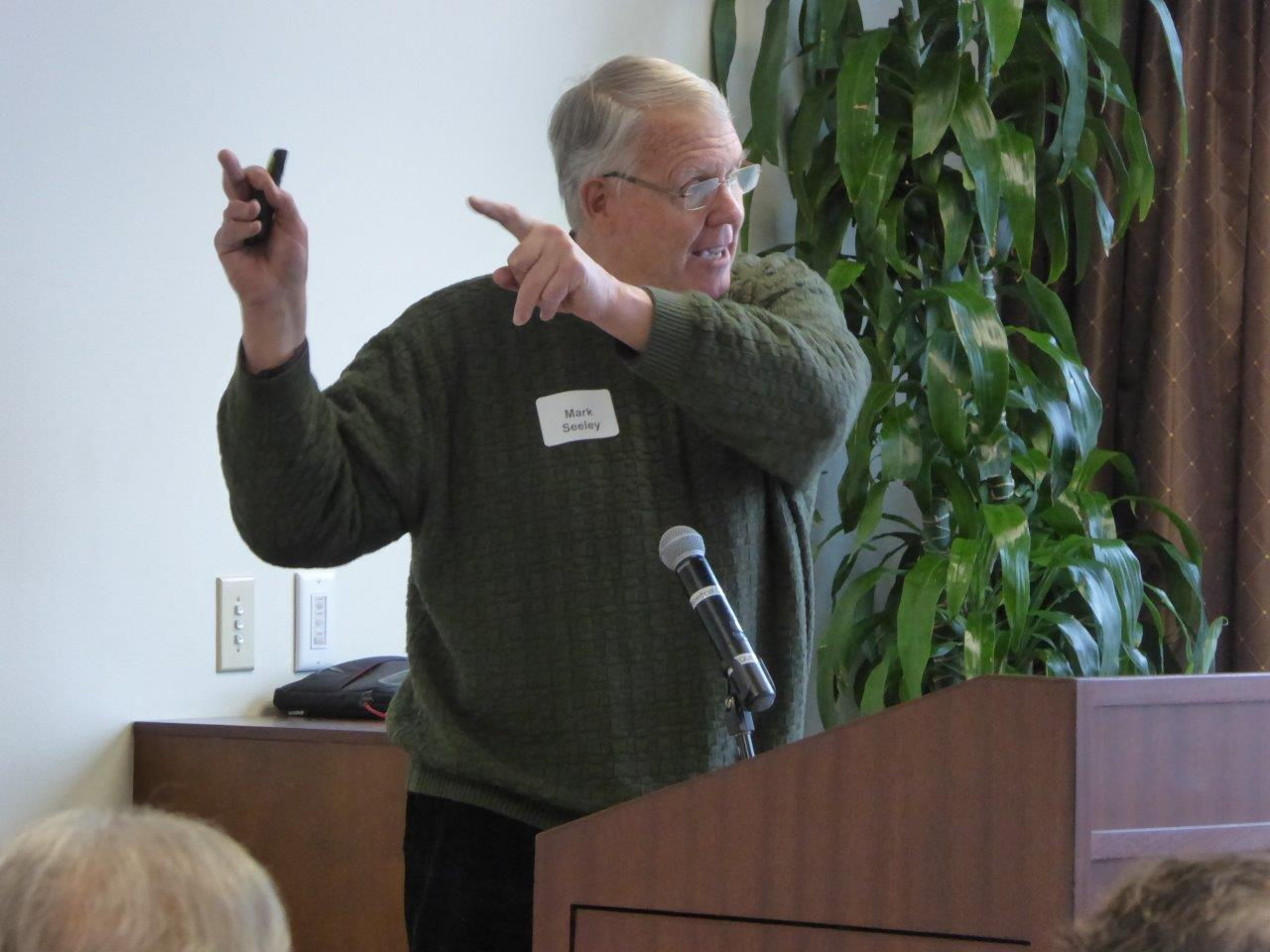 Mark Seeley explained the weather forecast at the January 2107 luncheon