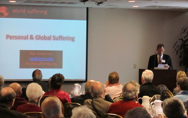 PDGR winner Ron Anderson amassed global statistics on suffering as part of his books project, supported by the 2014 grant