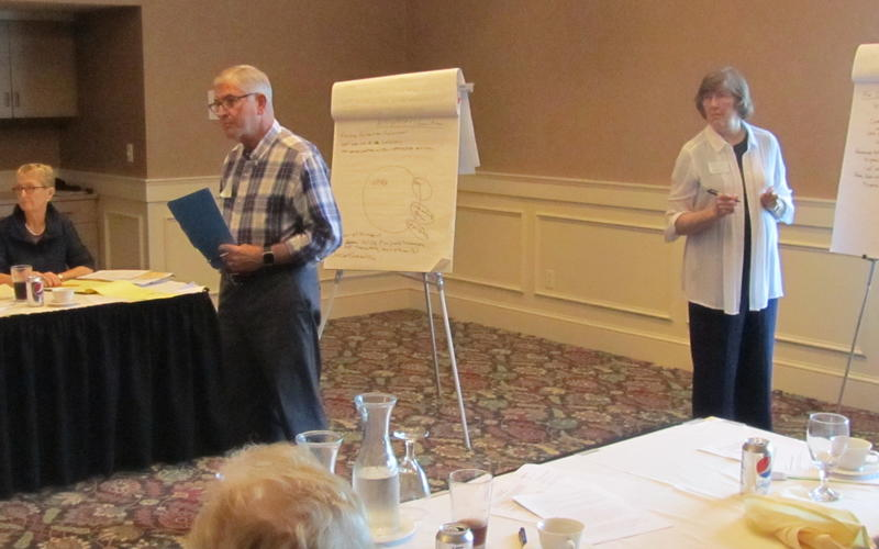 Jerry Rinehart and Julie Medbery moderated and took notes on the discussion  at the UMRA August 11, 2016 retreat