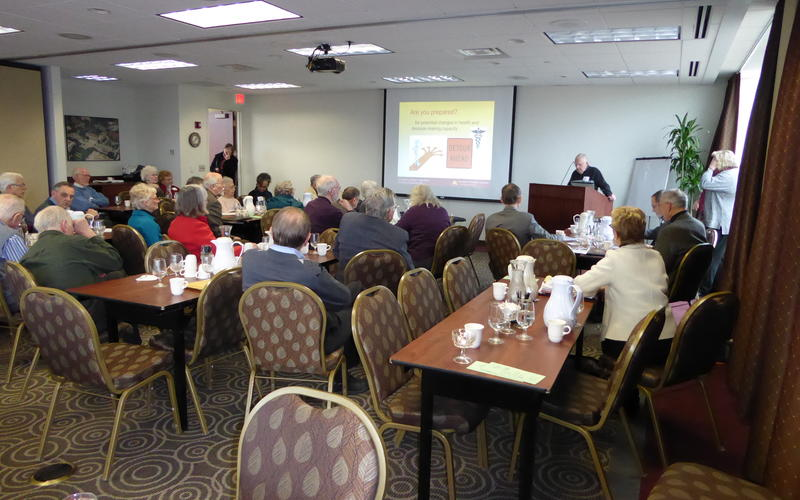 Many members stay for the workshop topic of advance health care directives after the Feb 2016 luncheon