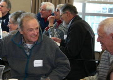 Alfred Aeppli enjoying a good laugh at the January 2008 luncheon