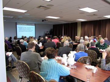 Attendees at the April 26 meeting