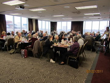 Members and guests at March luncheon meeting