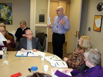 Kevin Horstman, UM Benefits Director, introduces himself to the UMRA Board at their January 27, 2015 meeting