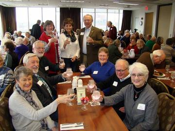 UMRA Members offer a toast to our organization at th January 2015 Luncheon meeting