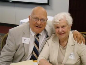 Bob and Shirley Holt enjoying intimacy of UMRA luncheon