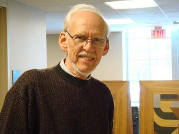 UMRA database manager Virgil Larson at the February 26 meeting