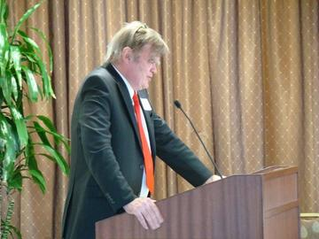 Garrison Keillor held our rapt attention at the February 26 luncheon as he spoke of his life as a former student and former younger person
