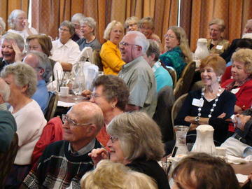 Our capacity audience was all smiles listening to the humorous anecdotes of our September 24th speaker, author Patricia Hempl