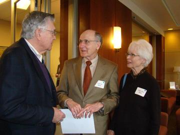 President-elect Hal Millers welcomes new UMRA members Vincent and Mary Kay Hunt