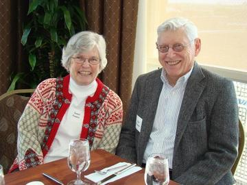 Janet and Ed Foster await lunch at the February 2014 meeting