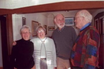 Ginny Hanson, UMRA Newsletter Editor, Judith Howe, Treasurer, John Howe, and Frank Miller, Past-President