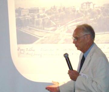 Harlan Hansen, presents Postcards from U of Minnesota History at May, 2010 UMRA Banquet