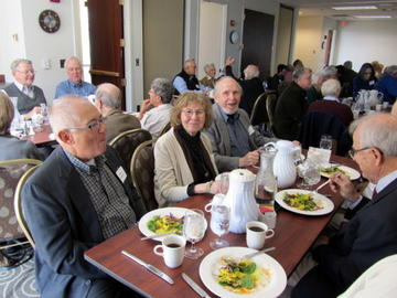 Guests enjoy the curried salad luncheon at the September 2012 meeting