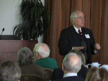 Dr. S. Charles Schulz, MD, spoke about mental health, and especially developmental detection and treatment at the first luncheon meeting of 2013