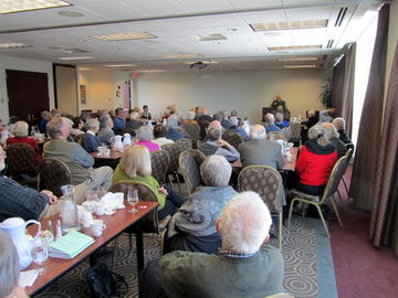 Bob Holt's presentation captured an attentive audience at the beginning of 2014