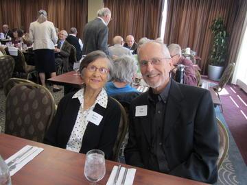 Bettye & Clif Ware, future presenters, at the April, 21014 luncheon