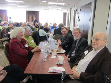 PDGR Grantees enjoy lunch with colleagues before their presentations