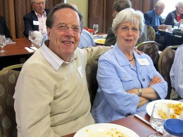 Gordon and LaNay Davis enjoy the September, 2014 luncheon