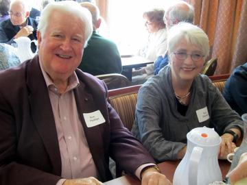 Ron Phillips with Kay Thomas at the September 2013 luncheon
