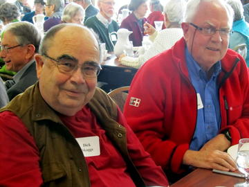 Dick Skaggs and Bob Patterson at November's Luncheon