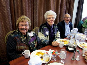 Shirley Barber, Van Linck, and Earl Nolting at the November luncheon