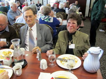 Ron Anderson and Sue Meyers enjoy November's luncheon