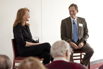Krista Tippet with Ron Anderson at the March Luncheon