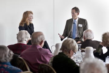 Ron Anderson poses a question to Krista Tippet, March 2013