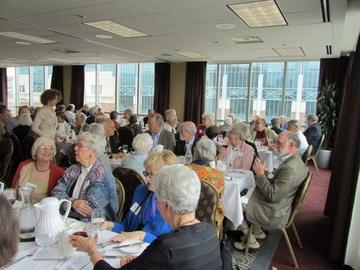 Lunch is served to a full-house on May 24