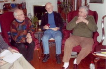 Frank Miller, Bob Scott, and Hal Miller at the UMRA Spring, 2008 Strategic Planning Retreat
