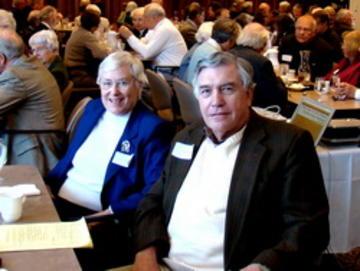 Gayle Graham Yates, Past President, and Hal Milller, 2008 UMRA President
