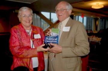 May 2007--Frank Miller welcoming incoming UMRA President, Gayle Graham Yates