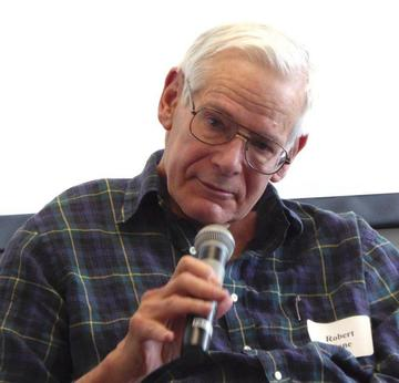 April 2015 speaker Robert Kane responds to questions as part of a panel discussion