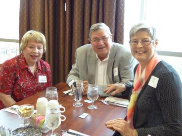 The Annual meeting and Gala Luncheon provides more time for members to socialize and get better acquainted. Chatting before the luncheon are Kay Swanson, James Fuchs, and Sandra Fuchs.
