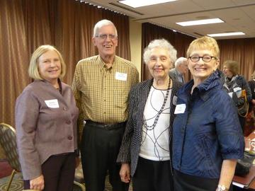 Newly elected officers and members of the board (left to right): Donna Peterson, president-elect; Chip Peterson, secretary; Gloria Williams, board member; Jean Kinsey, president. Not pictured, but also elected at the annual meeting, were Carl Adams,
