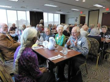 Earl Nolting has a story for others at his table at the kick-off meeting September 2016