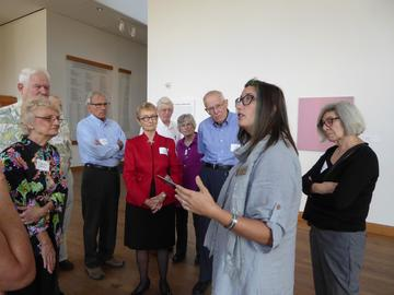 Following lunch, September 2016 attendees began a tour of the Weisman Art Museum