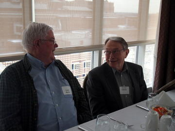 Members Laird Barber and Vern Eidman at the March meeting