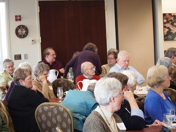 Members pay rapt attention to speaker Deborah Swackhamer discourse on our water resources at the November 19, 2013 meeting