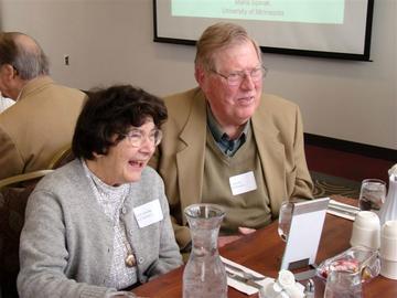 Eleanor and Calvi Kendall at the January 24, 2012 meeting