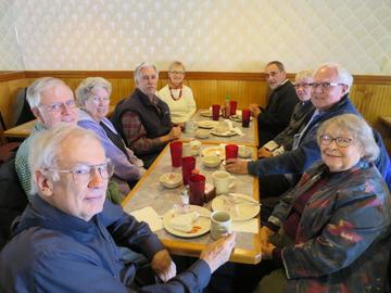 UMRA Photo Club members enjoy a Great Dragon lunch before their monthly meeting, this one March 10, 2017